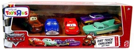 Disney / Pixar CARS Movie Exclusive 1:55 Die Cast Dirt Track Challenge 5-Piece Gift Pack [Mater, Dirt Track McQueen, Doc Hudson, Flo & Ramone]