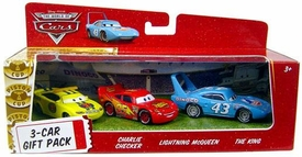 Disney / Pixar CARS Movie 1:55 Die Cast Cars 3-Car Gift Pack Lightning McQueen, Charlie Checker & King