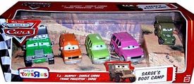 Disney / Pixar CARS Exclusive 1:55 Die Cast 5-Pack Sarge's Boot Camp [Oversize TJ, Murphy, Charlie Cargo, Frank Pinkerton & Sarge]