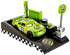Disney / Pixar CARS Movie 1:55 Die Cast Car with Launcher Pit Row Race-Off Shiny Wax #82