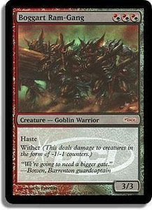 Magic the Gathering Wizards Play Network Promo Card Boggart Ram-Gang [WPN Foil]