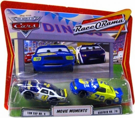 Disney / Pixar CARS Movie Moments 1:55 Die Cast Figure 2-Pack Series 4 Race-O-Rama Tow Cap & Gasprin