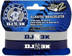 Derek Jeter Bandz 2-Pack Elastic Bracelets 3,000th Hit New York Yankees DJ3K