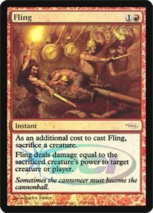 Magic the Gathering Wizards Play Network Promo Card Fling [WPN Foil]