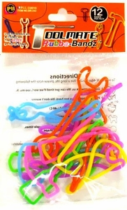 Rubba Bandz Shaped Rubber Bands Bracelets 12-Pack Toolmate