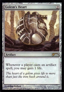 Magic the Gathering Wizards Play Network Promo Card Golem's Heart [WPN Promo]