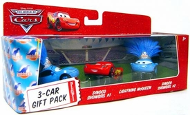 Disney / Pixar CARS Movie 1:55 Die Cast Cars 3-Car Gift Pack Dinoco Showgirls & Lightning McQueen [Angry Face]