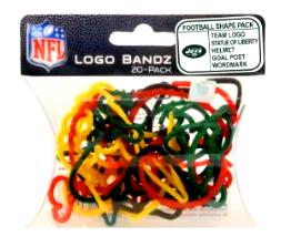 Shaped Rubber Bands Bracelets 20-Pack New York Jets