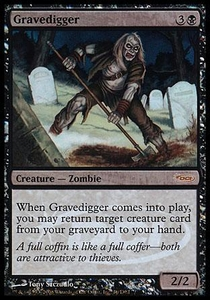 Magic the Gathering Wizards Play Network Promo Card Gravedigger [WPN Foil]
