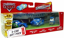 Disney / Pixar CARS Movie 1:55 Die Cast Cars 3-Car Gift Pack Spare O Mint, Spare O Mint Crew Chief & Spare O Mint Pitty