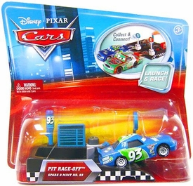 Disney / Pixar CARS Movie 1:55 Die Cast Car with Launcher Pit Row Race-Off Spare O Mint # 93