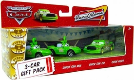 Disney / Pixar CARS Movie 1:55 Die Cast Cars 3-Car Gift Pack Chick Hicks with Chick Fans Mia & Tia