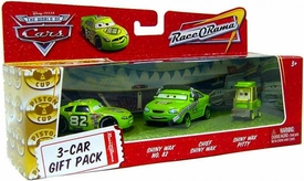 Disney / Pixar CARS Movie 1:55 Die Cast Cars 3-Car Gift Pack Shiny Wax, Chief Shiny Wax & Shiny Wax Pitty