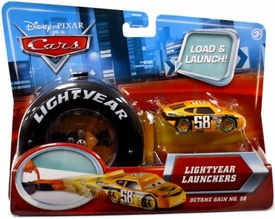 Disney / Pixar CARS Movie 1:55 Die Cast Car Lightyear Launchers Octane Gain No. 58