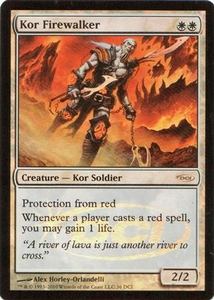 Magic the Gathering Wizards Play Network Promo Card Kor Firewalker [WPN Foil]