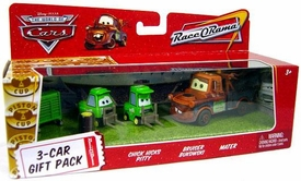 Disney / Pixar CARS Movie 1:55 Die Cast Cars 3-Car Gift Pack Chick Hicks Pitty, Bruiser Bukowski & Mater