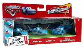 Disney / Pixar CARS Movie 1:55 Die Cast Cars 3-Car Gift Pack Dinoco Mia, Dinoco Tia & Dinoco Lightning McQueen