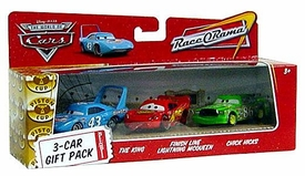 Disney / Pixar CARS Movie 1:55 Die Cast Cars 3-Car Gift Pack King, Finish Line Lightning McQueen & Chick Hicks