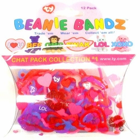 Ty Beanie Bandz Shaped Rubber Band Bracelets 12-Pack Chat Pack Collection #1