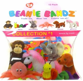 Ty Beanie Bandz Shaped Rubber Band Bracelets 12-Pack Collection #1