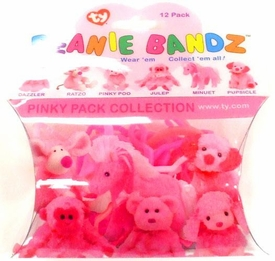 Ty Beanie Bandz Shaped Rubber Band Bracelets 12-Pack Pinky Pack Collection