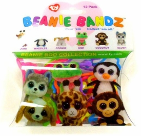 Ty Beanie Bandz Shaped Rubber Band Bracelets 12-Pack Beanie Boo Collection