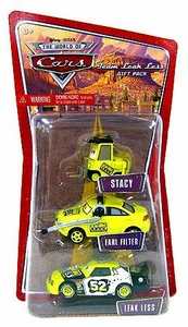 Disney / Pixar CARS 1:55 Die Cast Figure 3-Pack Team Leak Less [Stacy, Earl Filter & Leakless]
