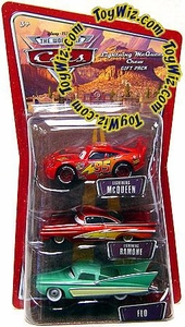 Disney / Pixar CARS Movie 1:55 Die Cast Figure 3-Pack Lightning McQueen, Lightning Ramone & Flo