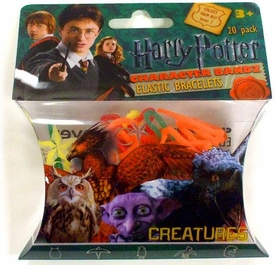 Logo Bandz Shaped Rubber Band Bracelets 20-Pack Harry Potter Creatures