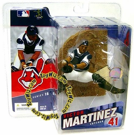 McFarlane Toys MLB Sports Picks Series 16 Action Figure Victor Martinez (Cleveland Indians) White Jersey