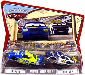 Disney / Pixar CARS Movie Moments 1:55 Die Cast Figure 2-Pack Series 3 World of Cars Gasprin & Tow Cap