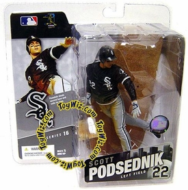 McFarlane Toys MLB Sports Picks Series 16 Action Figure Scott Podsednik (Chicago White Sox) Black Jersey BLOWOUT SALE!