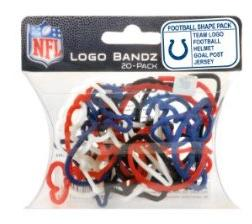 Logo Fan Bandz Sports Shaped Rubber Bands 20-Pack Indianapolis Colts