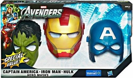 Marvel Avengers Movie Exclusive Hero Mask 3-Pack [Captain America, Iron Man & Hulk]