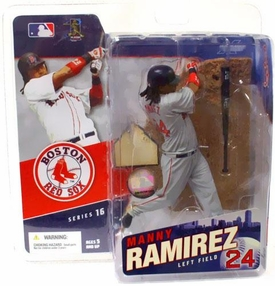 McFarlane Toys MLB Sports Picks Series 16 Action Figure Manny Ramirez (Boston Red Sox) Gray Jersey Variant