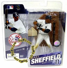 McFarlane Toys MLB Sports Picks Series 16 Action Figure Gary Sheffield (New York Yankees) White Jersey