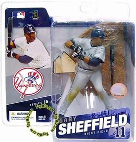 McFarlane Toys MLB Sports Picks Series 16 Action Figure Gary Sheffield (New York Yankees) Grey Jersey Variant