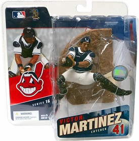 McFarlane Toys MLB Sports Picks Series 16 Action Figure Victor Martinez (Cleveland Indians) White Jersey Damaged Package, Mint Contents!
