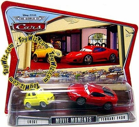 Disney / Pixar CARS Movie Moments 1:55 Die Cast Figure 2-Pack Series 3 World of Cars Luigi & Ferrari F430