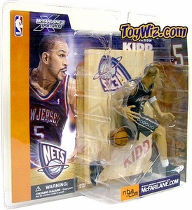 McFarlane Toys NBA Sports Picks Series 1 Action Figure Jason Kidd (New Jersey Nets) Blue Jersey