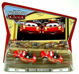 Disney / Pixar CARS Movie Moments 1:55 Die Cast Figure 2-Pack Series 3 World of Cars Mia & Tia [Red Versions]
