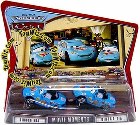 Disney / Pixar CARS Movie Moments 1:55 Die Cast Figure 2-Pack Series 3 World of Cars Dinoco Mia & Tia [Blue Versions]