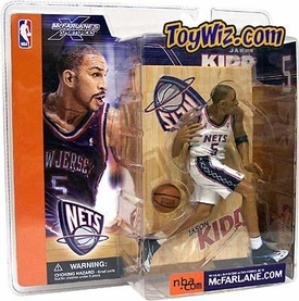 McFarlane Toys NBA Sports Picks Series 1 Action Figure Jason Kidd (New Jersey Nets) White Jersey Variant