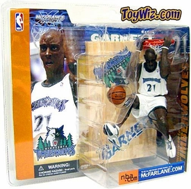 McFarlane Toys NBA Sports Picks Series 1 Action Figure Kevin Garnett (Minnesota Timberwolves) White Jersey