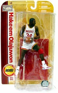 McFarlane Toys NBA Sports Picks Legends Series 5 Action Figure Hakeem Olajuwon (Houston Rockets) White Jersey Variant