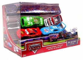Disney / Pixar CARS Movie 1:55 Die Cast 4-Pack Gift Pack Race & Chase [McQueen, Chick, King & Re-Volting]