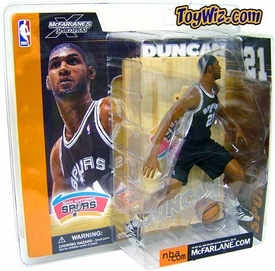 McFarlane Toys NBA Sports Picks Series 1 Action Figure Tim Duncan (San Antonio Spurs) Black Jersey