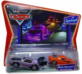 Disney / Pixar CARS Movie Moments 1:55 Die Cast Figure 2-Pack Series 2 Supercharged Boost & Snot Rod