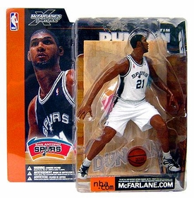 McFarlane Toys NBA Sports Picks Series 1 Action Figure Tim Duncan (San Antonio Spurs) White Jersey Variant