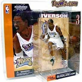 McFarlane Toys NBA Sports Picks Series 1 Action Figure Allen Iverson (Philadelphia 76ers) White Jersey